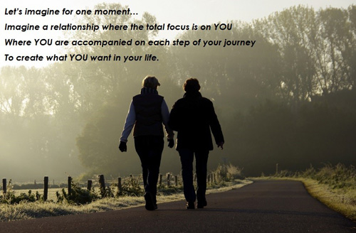 Imagine a relationship where the total focus is on you - Coaching with Sally Morris