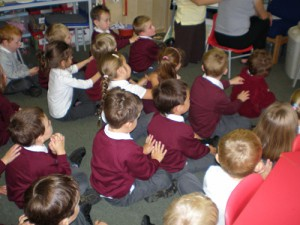 Peer-to-peer massage in an Infant School in Essex